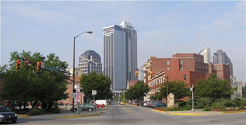 Photograph of Indianapolis, Indiana Massachusetts Avenue and Alabama Street
