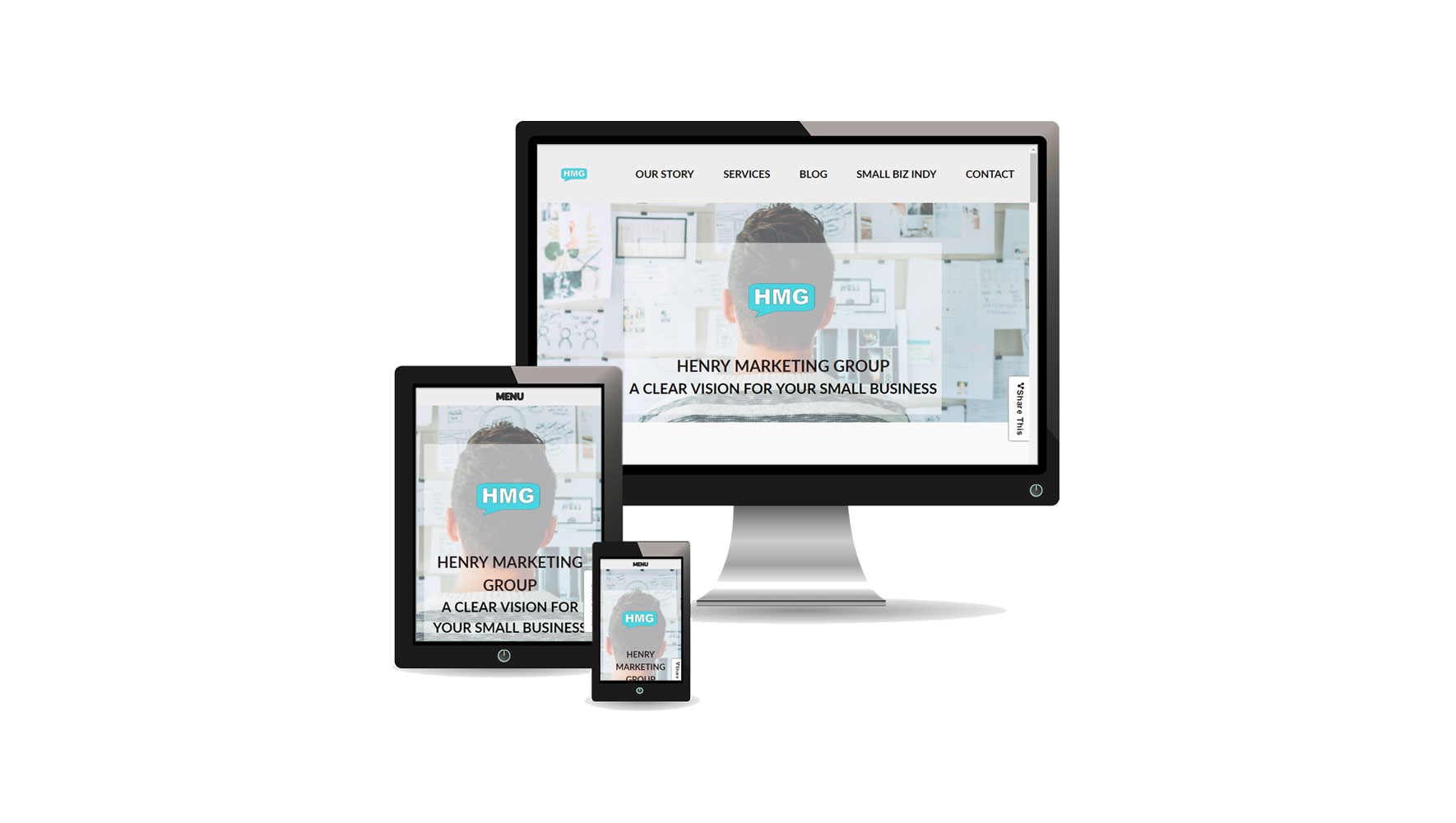 Responsive brochure website from HMG