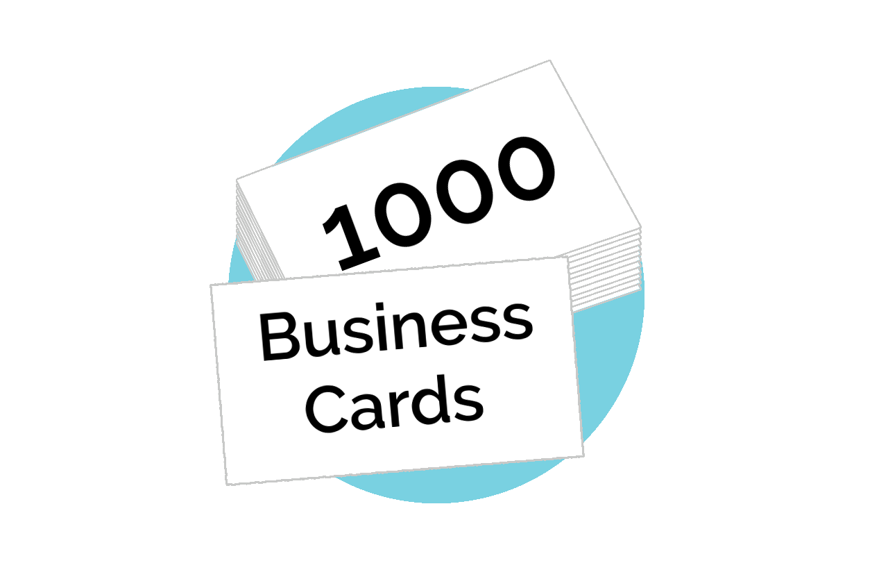 You get 1000 custom designs business cards to compliment your new Smart Site