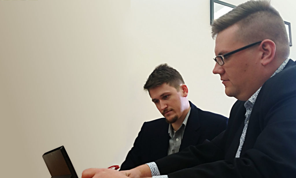 Here is Ryan working with a client one on one for training.