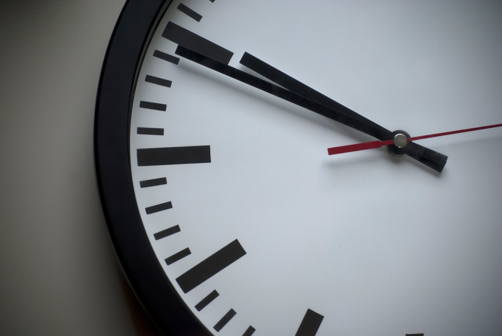 Up close with a wall clock